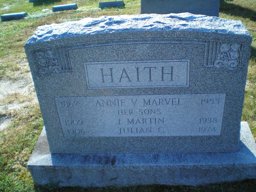 Annie V. Marvel Haith